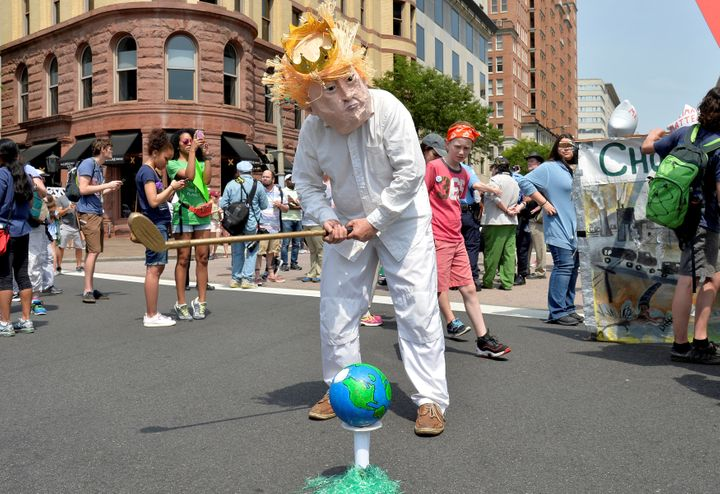 A protestor at April's People's Climate March in Washington, D.C.