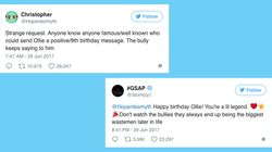 Dad Appeals To Celebrities On Twitter To Send Birthday Message To Bullied Son, The Reaction Is