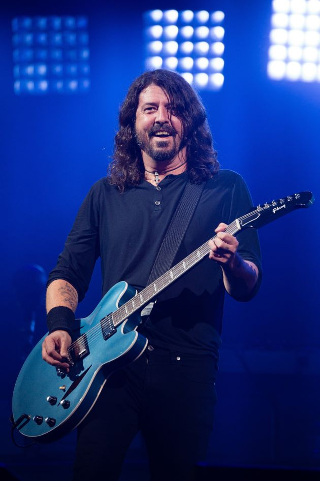 Dave Grohl performing at