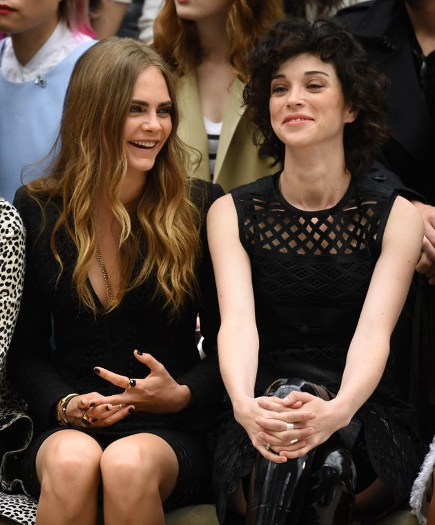 Cara and her then-girlfriend St Vincent in