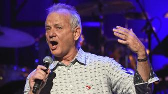 NEW YORK, NY - MARCH 09:  Actor Bill Murray speaks onstage during 'Love Rocks NYC! A Change is Gonna Come: Celebrating Songs of Peace, Love and Hope' A Benefit Concert for God's Love We Deliver at Beacon Theatre on March 9, 2017 in New York City.  (Photo by Jamie McCarthy/Getty Images)