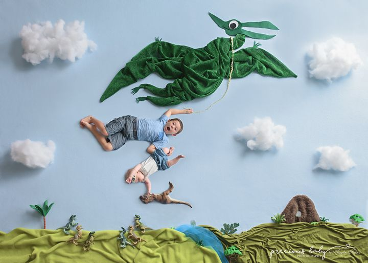Forker spends four to eight hours creating her floor backdrops.