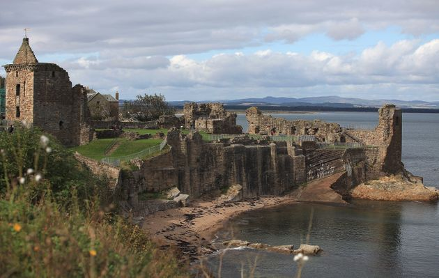 The girl fell from rocks at St Andrews Castle in
