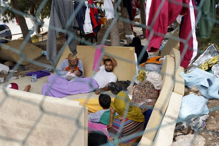 Conditions at the immigration detention centre in Lampedusa fluctuate. This photo was taken in 2013.