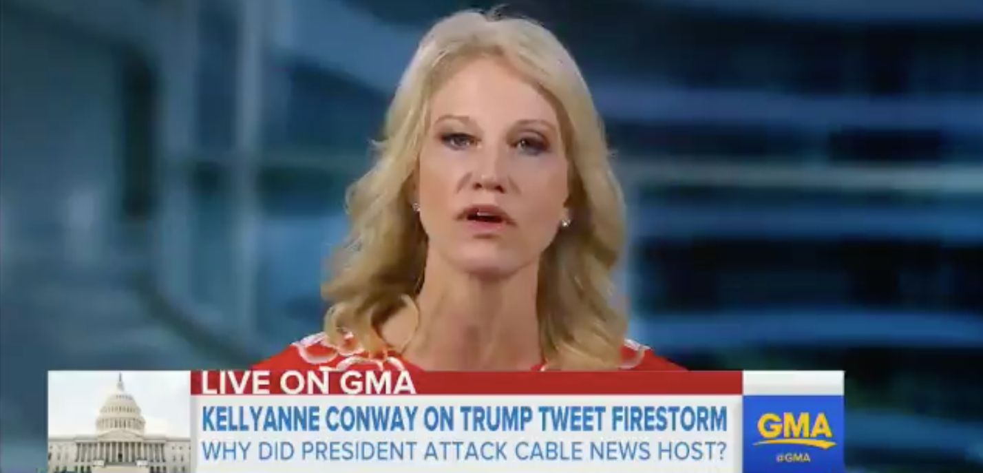"""Conway on """"Good Morning America"""" on Friday morning."""