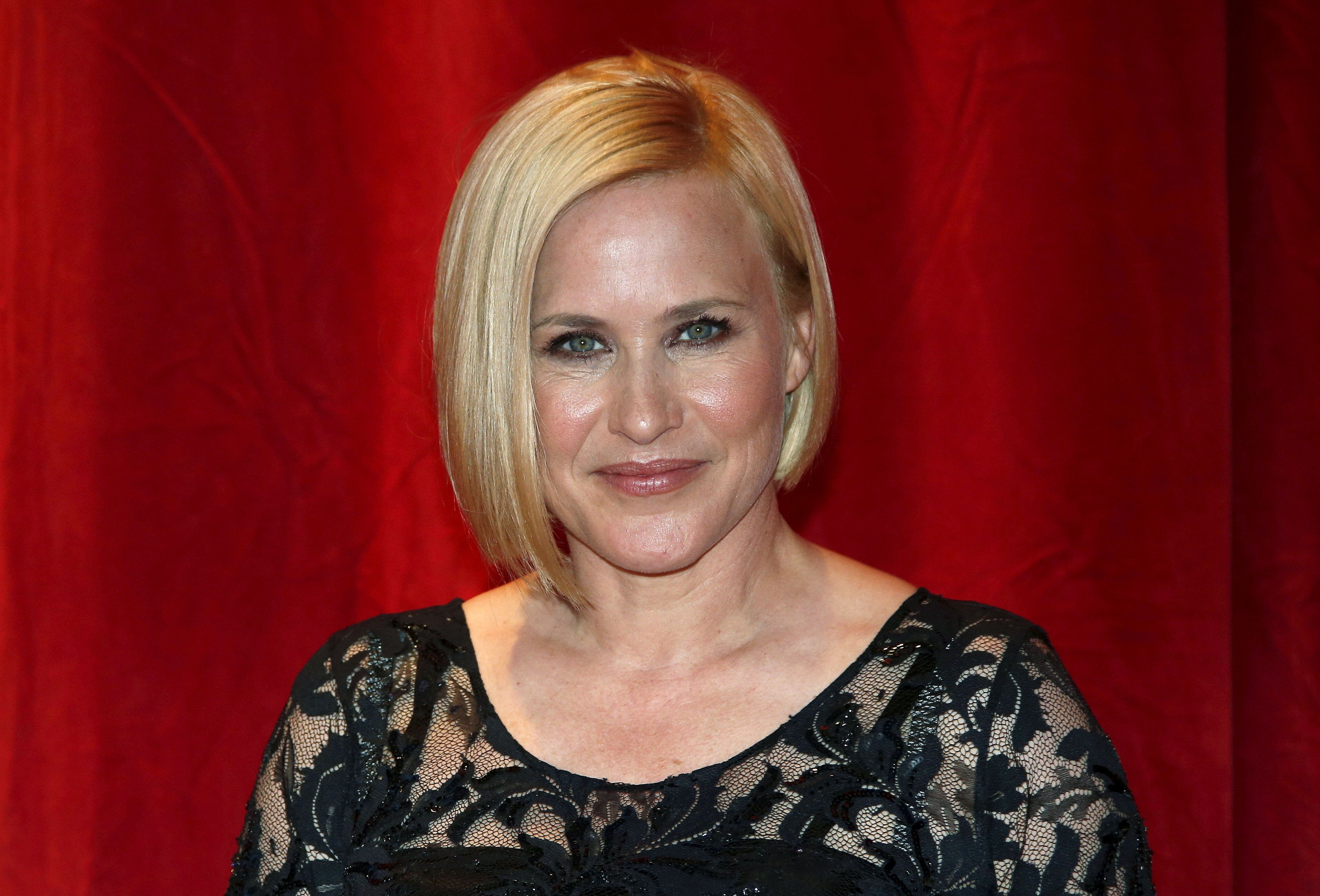 "Actress Patricia Arquette poses after receiving a ""Crystal Nymph"" for her career at the 55th Monte Carlo Television Festival in Monaco June 13, 2015. REUTERS/Eric Gaillard"