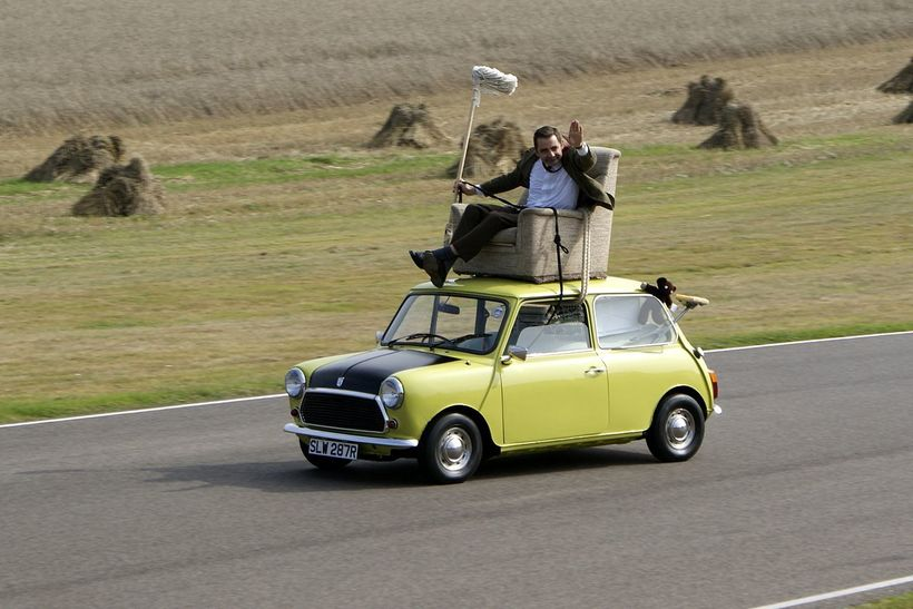 Mr Bean demonstrates his unusual driving style