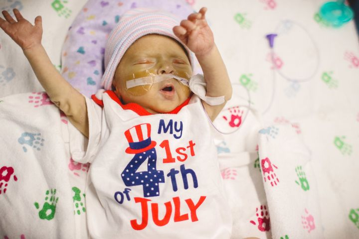 "The hospital's two main campuses celebrated Independence Day early with a ""parade of little ones."""