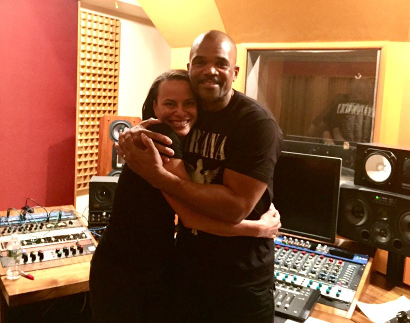 DMC and April recording at Mercy Sound Studio
