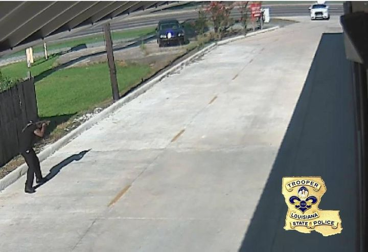 Gavin Long captured on video during the shooting.