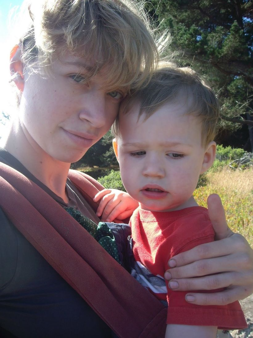 Our preferred mode of transportation: me, carrying him. I never wanted to put himdown.