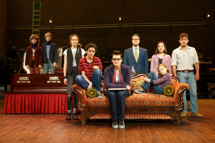 "The national tour cast of ""Fun Home."""