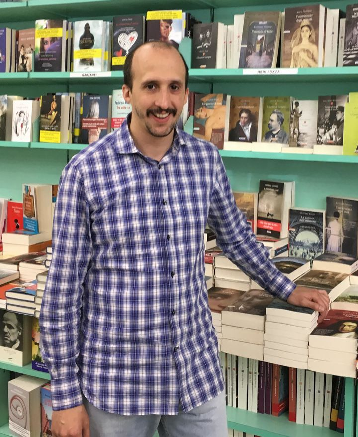Carlo Oxoli, 35, runs the Libreria Lirus bookstore in Milan, which his family has owned for 26 years. He says that leaving th