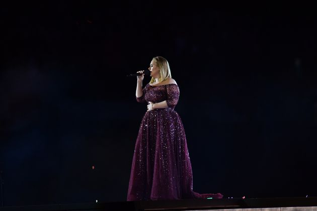 Adele performs at Wembley Stadium on June