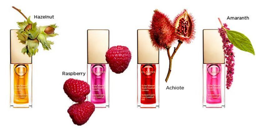 "<strong>Instant Light LipComfort Oils</strong> from <a rel=""nofollow"" href=""http://www.clarinsusa.com/en/lip-comfort-oils/"""