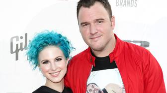 CLEVELAND, OH - JULY 21:  Singer Hayley Williams of Paramore (L) and guitarist Chad Gilbert of New Found Glory attend the 2014 Gibson Brands AP Music Awards at the Rock and Roll Hall of Fame and Museum on July 21, 2014 in Cleveland, Ohio.  (Photo by Chelsea Lauren/WireImage)