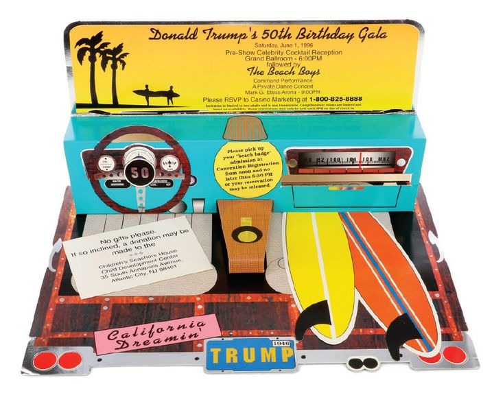 A 50th birthday party invitation from Donald Trump.