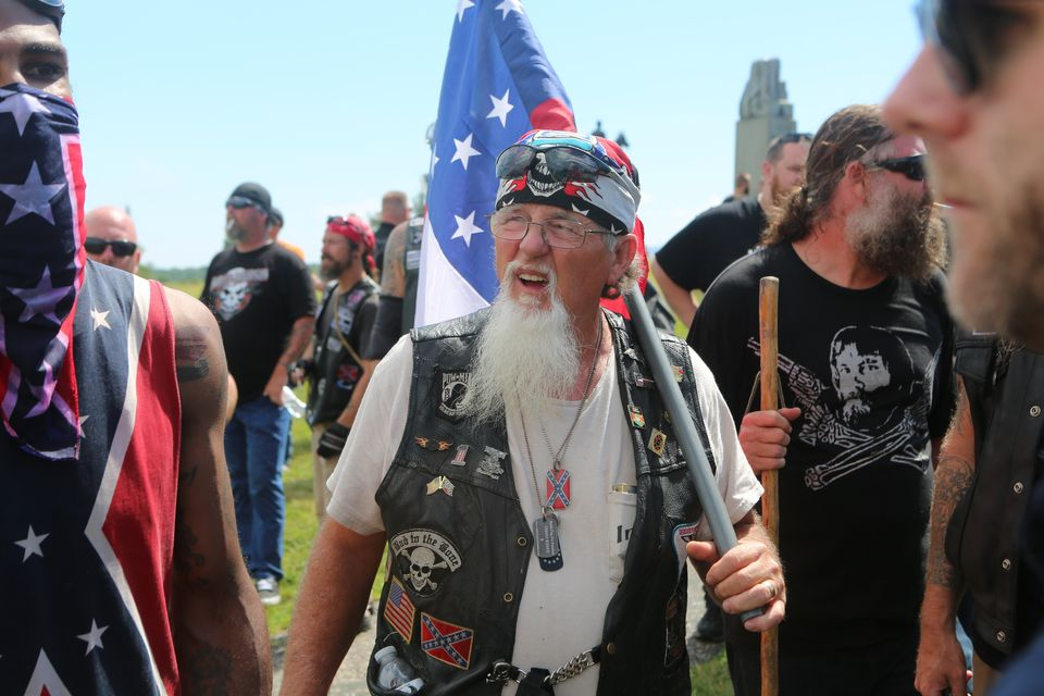 Militia groups, KKK members, the Sons of Confederate Veterans and other far-right groups gathered at the Civil War battlefiel