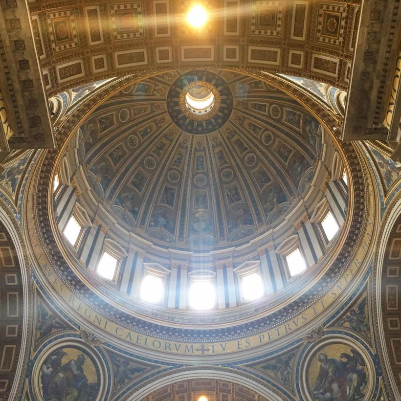The dome of St. Peter's Basilica, designed by Michelangelo.