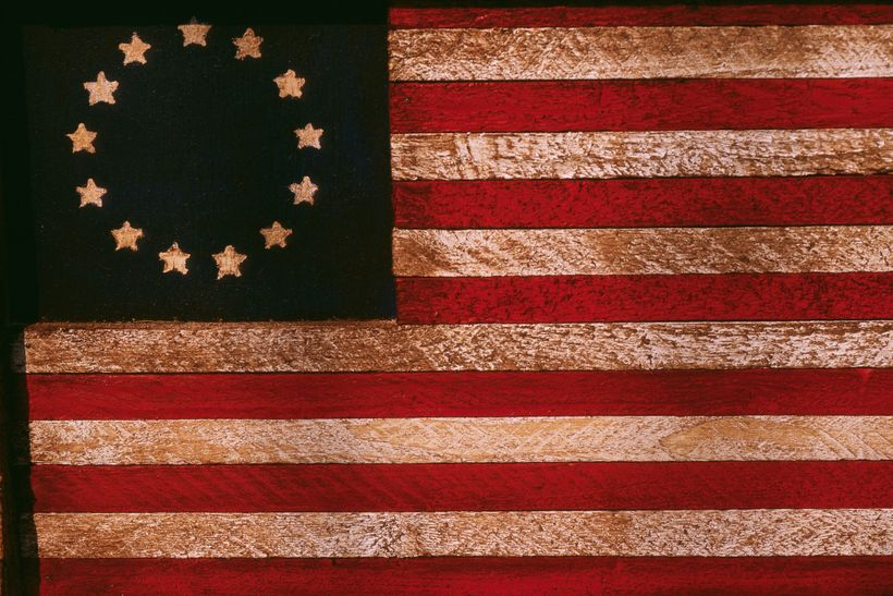 An American flag circa 1777