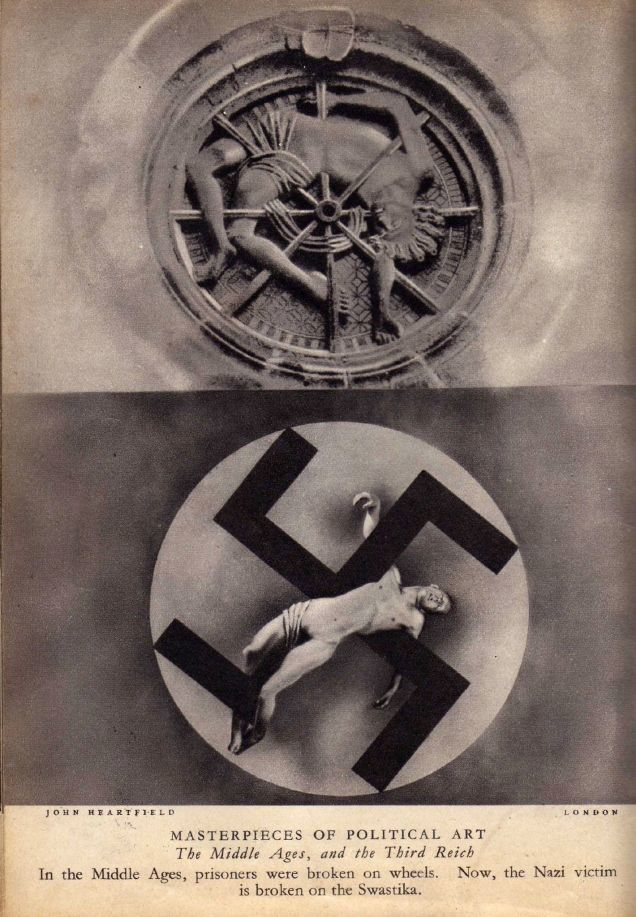 John Heartfield, <em>The Middle Ages and the Third Reich, </em>1934 photomontage