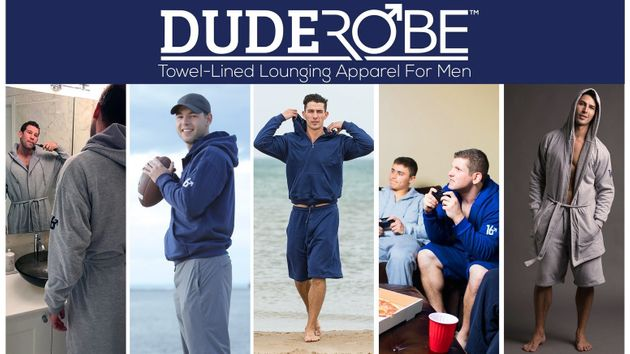 The DudeRobe Is Here To Ensure Men Only Have To Wear Masculinity-Affirming Towelling
