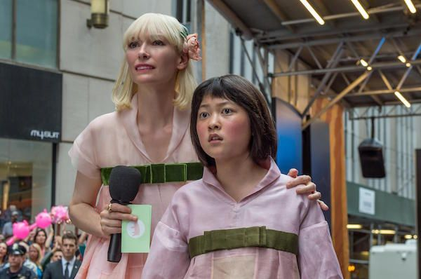 Tilda Swinton and Ahn Seo-hyun in 'Okja'