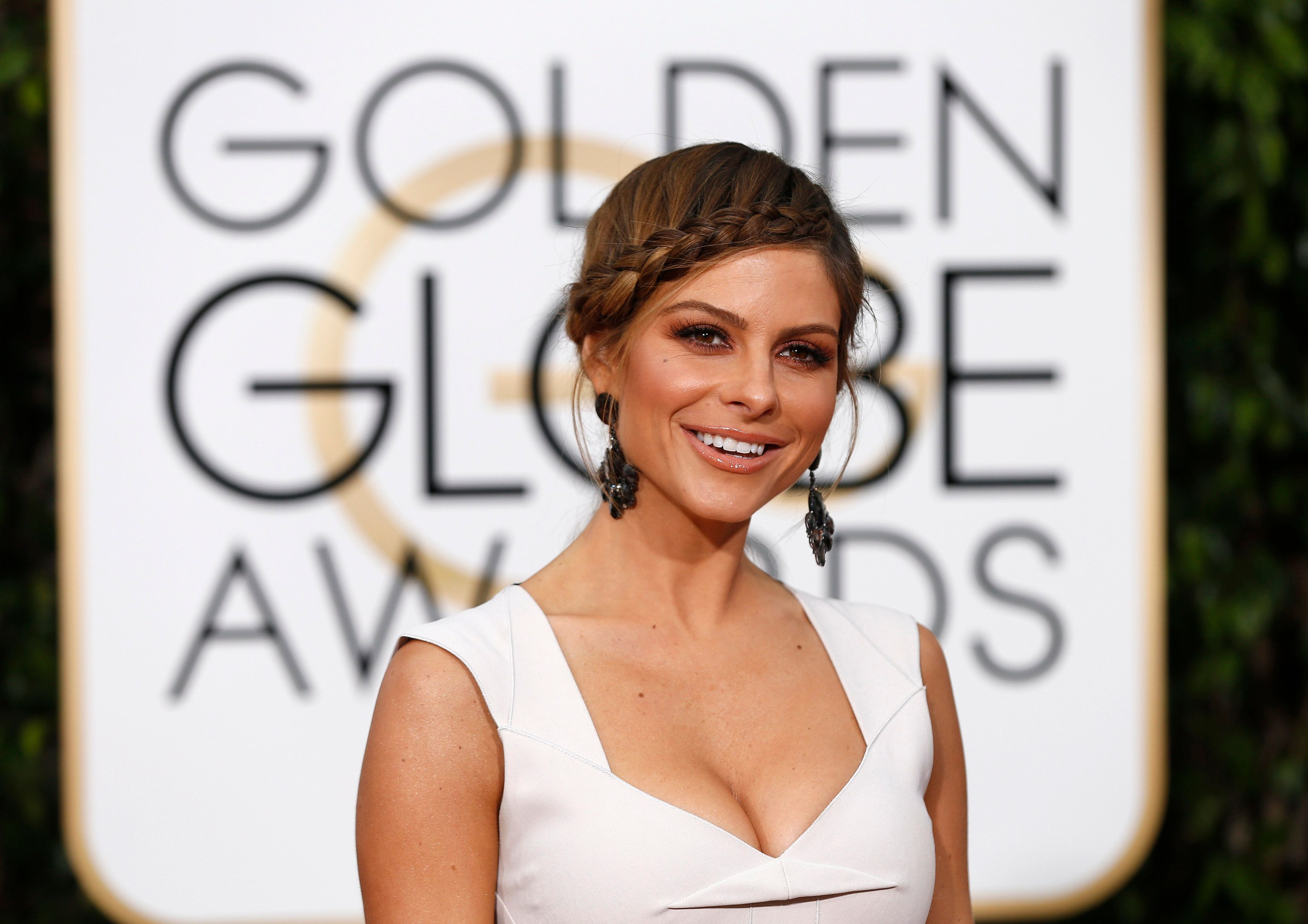 TV personality Maria Menounos arrives at the 73rd Golden Globe Awards in Beverly Hills, California January 10, 2016.  REUTERS/Mario Anzuoni
