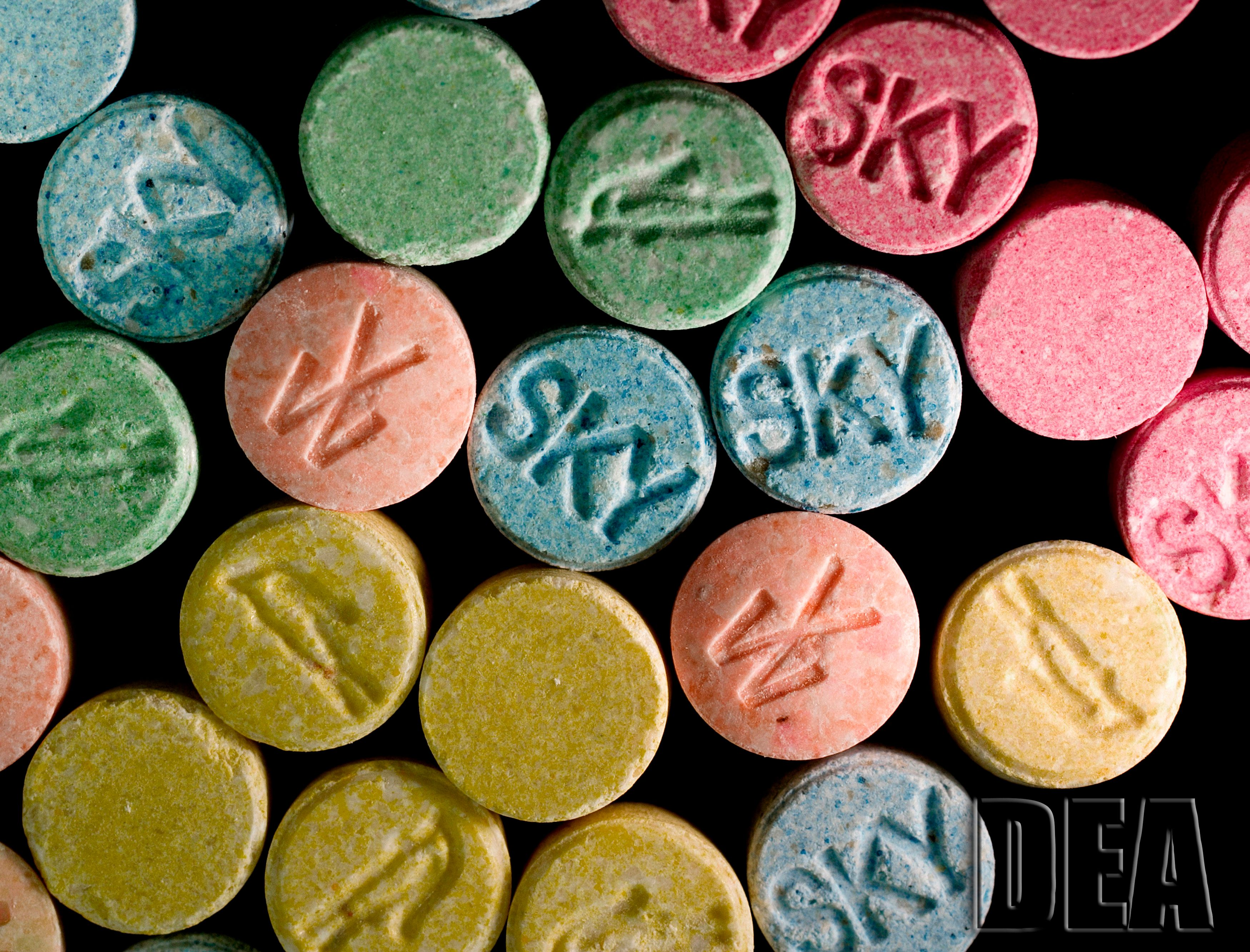 MDMA is the main active chemical in the drug Ecstasy.
