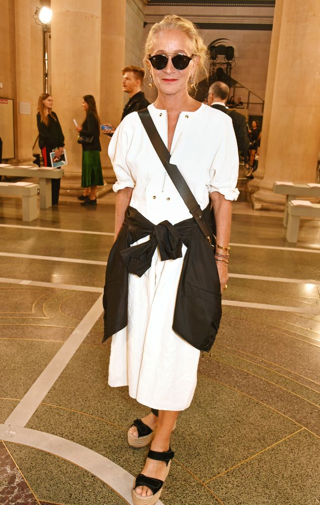 Lucinda Chambers attends the Christopher Kane show during London Fashion Week Spring/Summer collections...