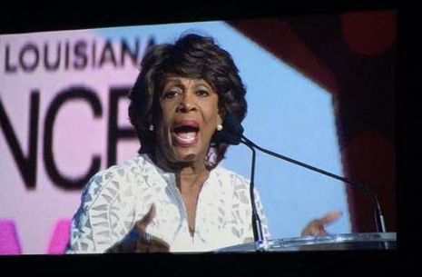 Rep. Maxine Waters (D-Calif.) delivered an impassioned speech at the Essence Festival in New Orleans on Saturday, July 1.