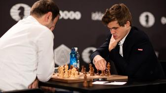 Magnus Carlsen at the World Rapid and Blitz championship in Berlin 2015