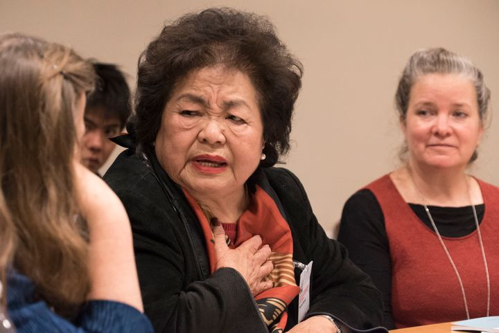 Setsuko Thurlow Addresses a First Committee Side event during UN negotions to create a legally binding instrument that prohib