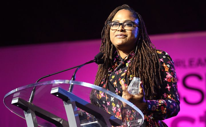 Ava DuVernay speaks onstage at the 2017 Essence Festival.