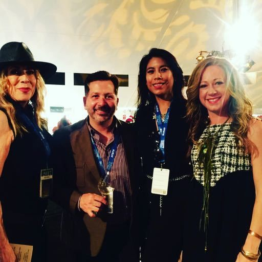 l to r, Kelly Mitchell, Anthony Giglio, Christine Rios & Penelope Moore at PBFW 2017