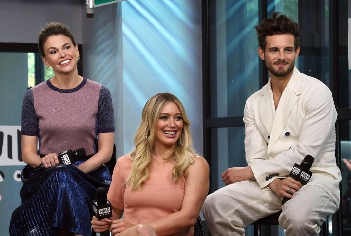 Sutton Foster, Hilary Duff and Nico Tortorella discuss 'Younger' at Build Series.