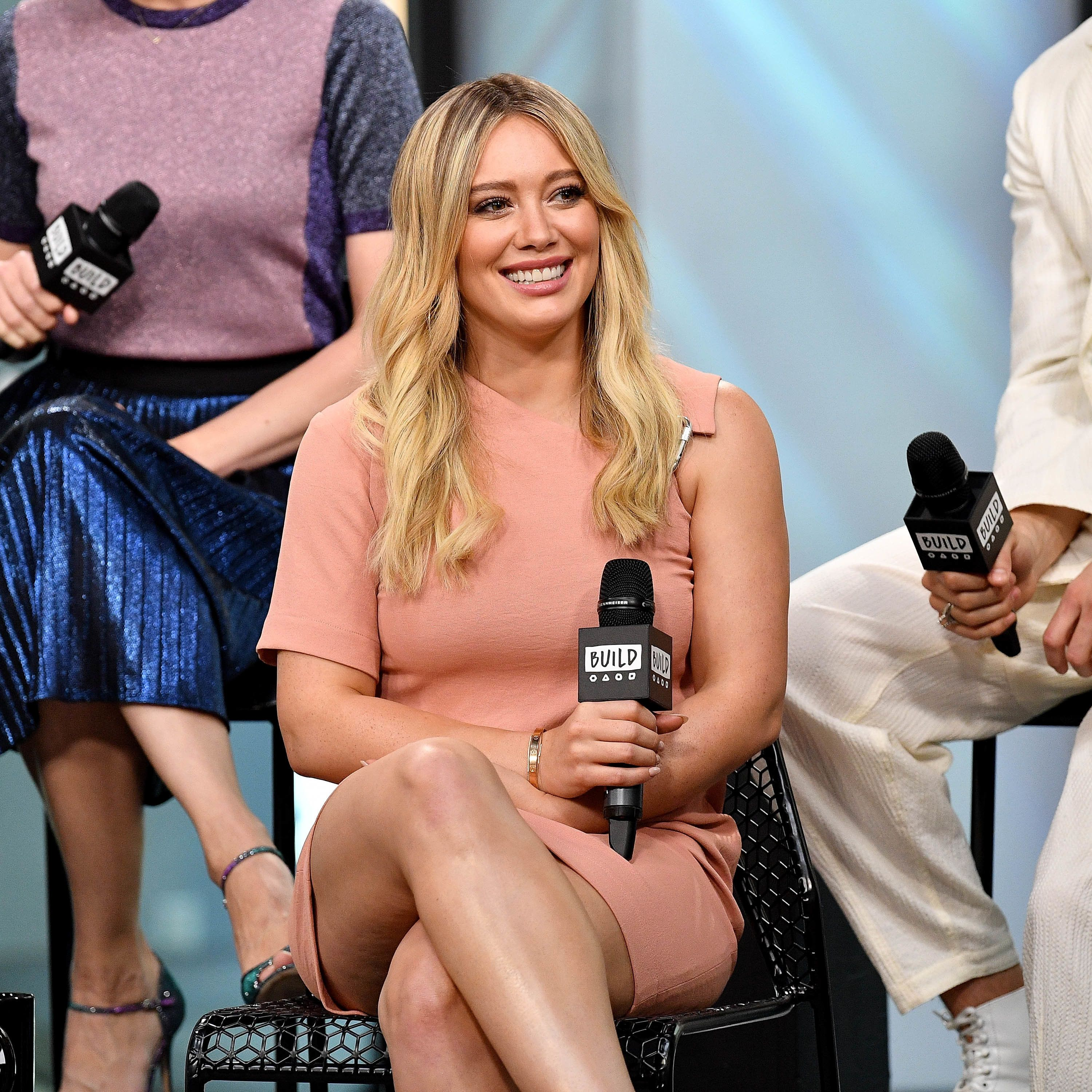 NEW YORK, NY - JUNE 27:  Hilary Duff visits Build to discuss 'Younger' at Build Studio on June 27, 2017 in New York City.  (Photo by Dia Dipasupil/Getty Images)
