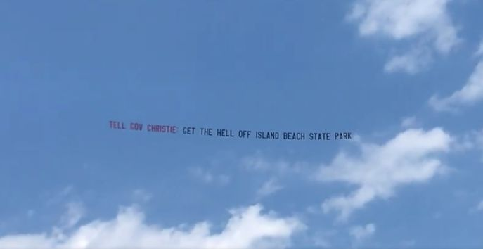 Banner Plane Tells New Jersey Governor To 'Get The Hell Off'