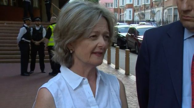 Elizabeth Campbell addressed the media outside the council