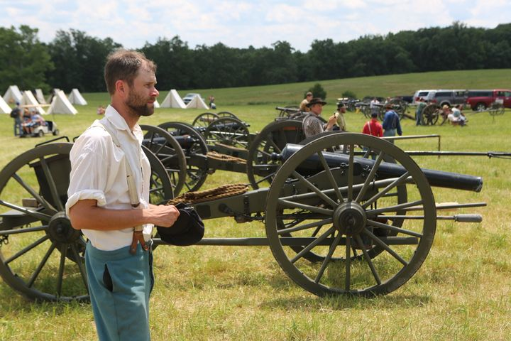 Many of the soldiers and civilians re-enacting the Civil War on Saturday were patriots who've served in modern wars