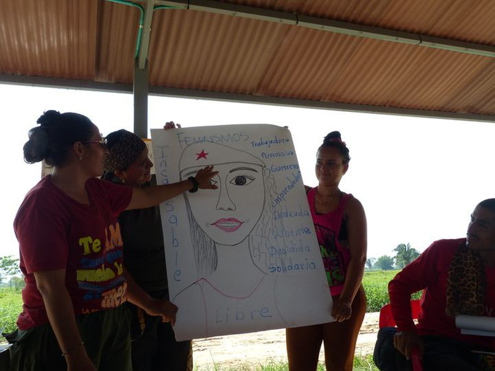 A gender workshop at the FARC concentration zone
