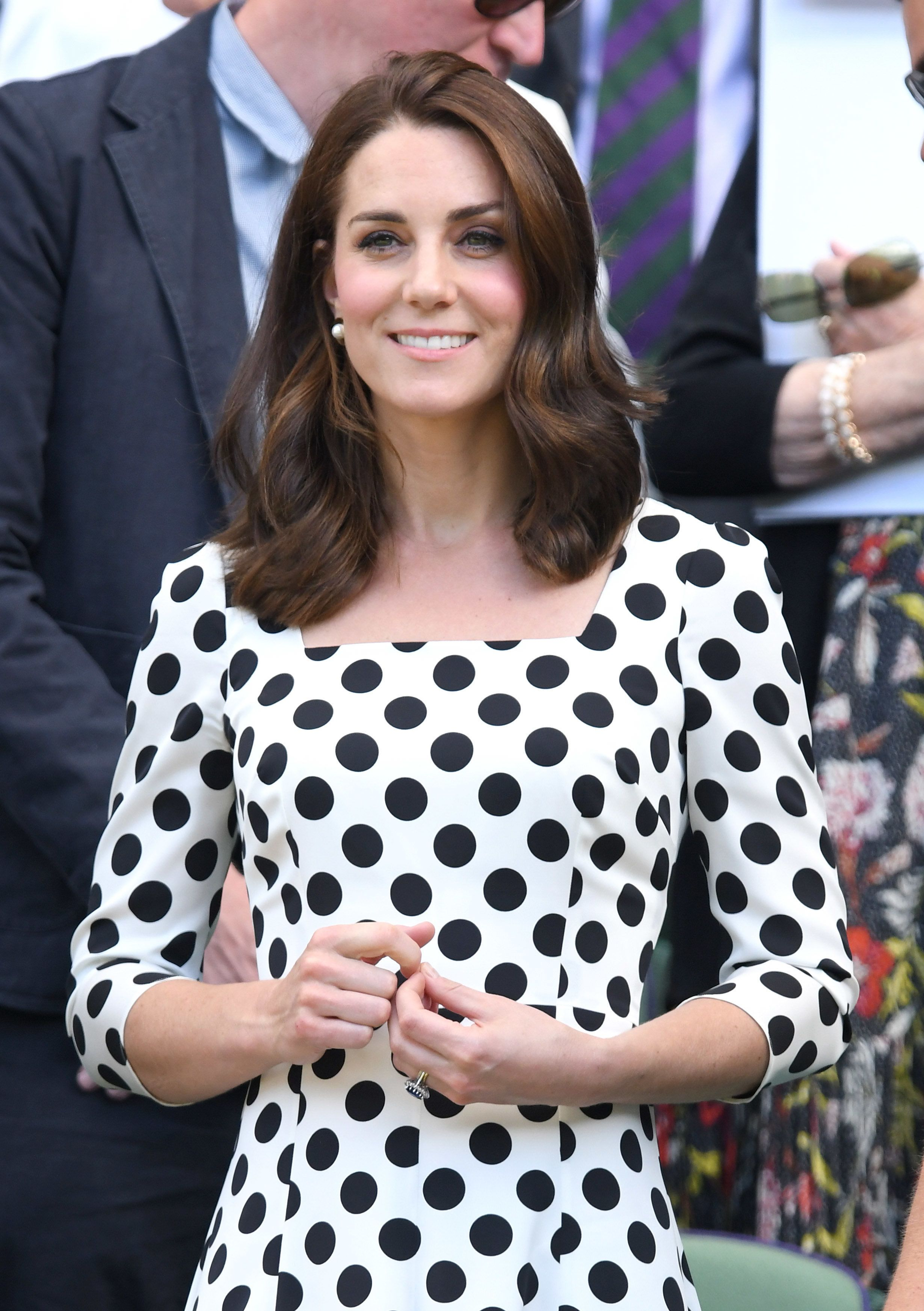 Duchess of Cambridge attends day one of the Wimbledon Tennis Championships at Wimbledon on 3 July
