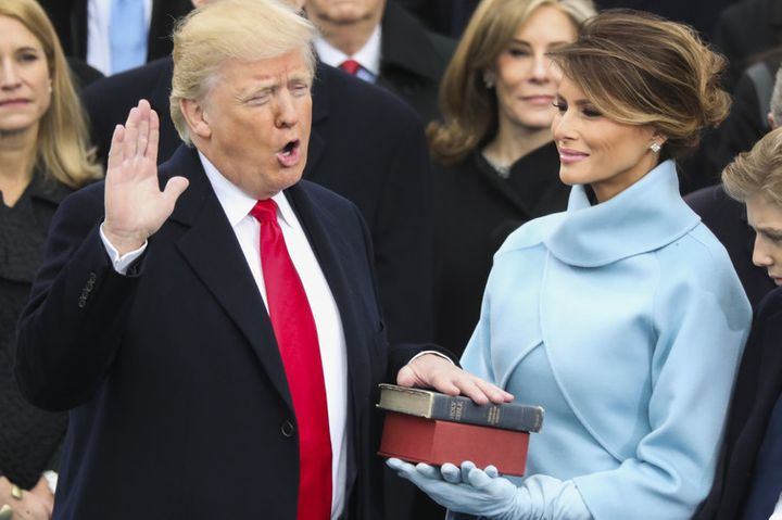 Obama and Trump are the only two presidents to be sworn in using Lincoln's Bible.