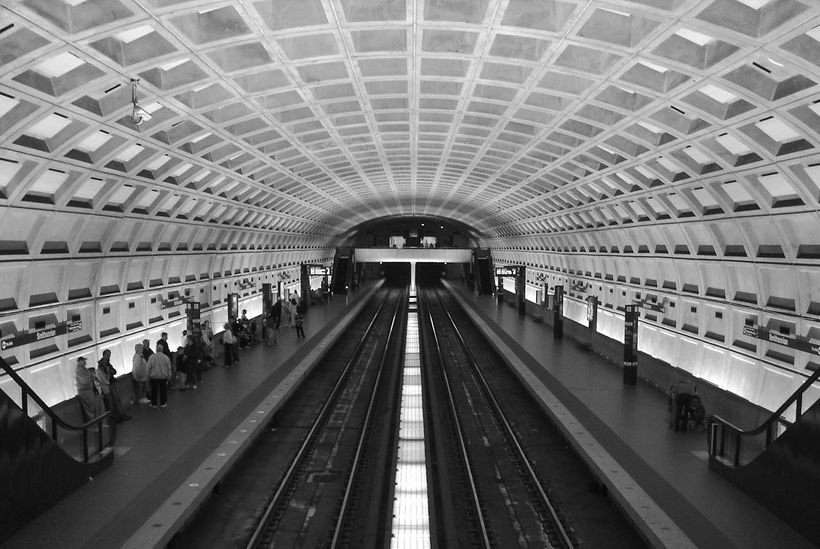 Washington Metro, designed by Harry Weese, 1966-1976.