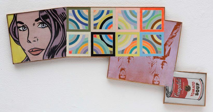 Richard Pettibone: Seductive Girl, Tahkt I-Sulyaman Vartiation II, Elvis and Campbell's Soup, 1969, acrylic on canvas