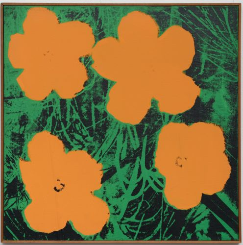 Elaine Sturtevant: Warhol Flowers, 1965, Synthetic polymer silkscreen on canvas
