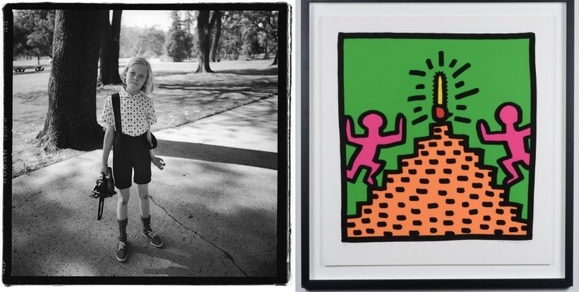 Hugh  Brown: After Keith Haring: Untitled, 1985-95, Silkscreen. Hugh Brown: After  Diane Arbus: Child with toy chainsaw in Gr