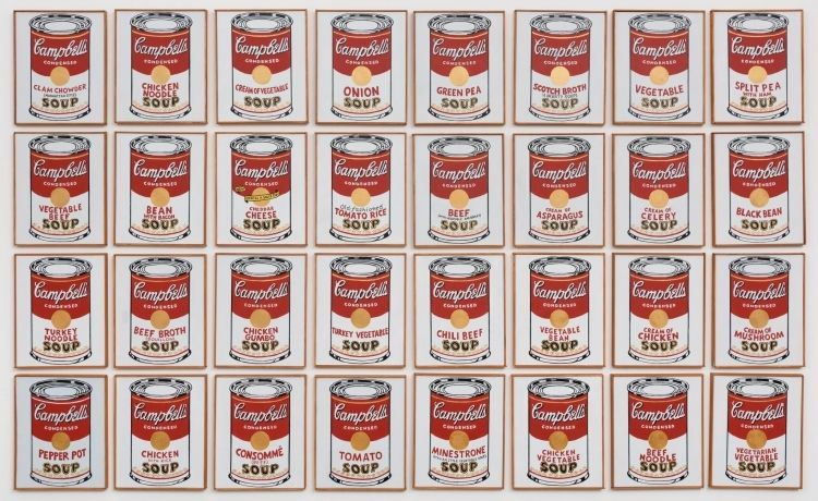Gregg Gibbs: After Andy Warhol: Very Soupy, 2012, Acrylic on canvas, 100 x 68 x 34 in