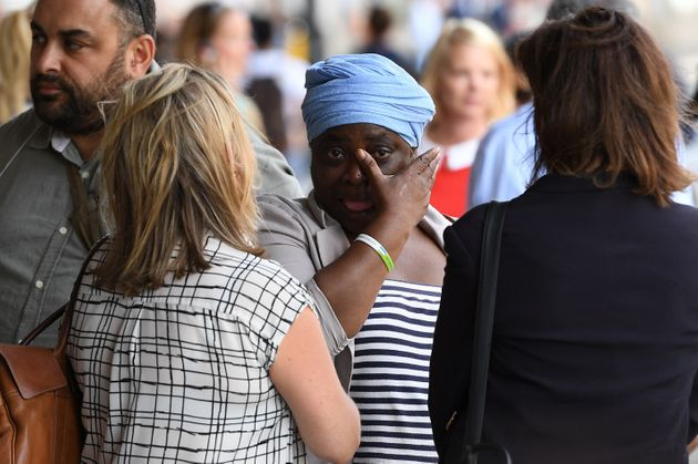 Families affected by the Grenfell Tower tragedy walked out of a meeting with police and the coroner last...