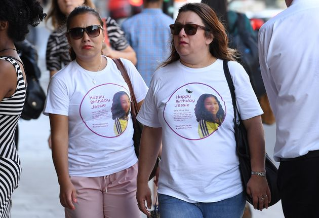 The family of victim Jessica Urbano wore t-shirts celebrating what would have been her 13th